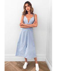 Nasty Gal Cotton Cami Midi Dress - Blue