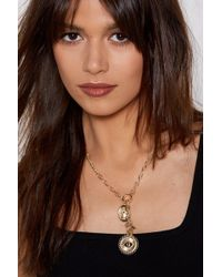 Nasty Gal - See A Penny Coin Necklace - Lyst
