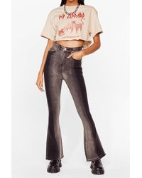 Nasty Gal Colorblock Party High-waisted Flare Jeans - Multicolour