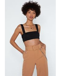 "Nasty Gal ""square Enough Crop Top"" - Black"
