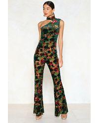 Nasty Gal - How's It Growin' Velvet Jumpsuit - Lyst