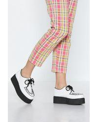 "Nasty Gal ""creeper Up Platform Shoe"" - White"