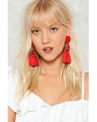 Nasty Gal | Large Bead & Tassel Earring Large Bead & Tassel Earring | Lyst
