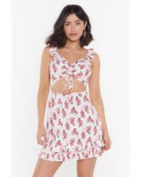 """Nasty Gal - """"take Root Floral Cut-out Dress"""" - Lyst"""