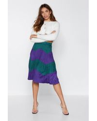"Nasty Gal ""get Chevron Hun Faux Suede Skirt"" - Purple"