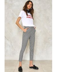 Nasty Gal | Make It Fair Gingham Trousers | Lyst