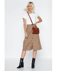 """Nasty Gal - """"toot Your Own Whistle Check Skirt"""" - Lyst"""