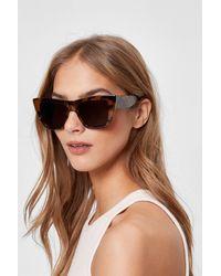 Nasty Gal Tortoiseshell Oversized Cat Eye Sunglasses - Brown