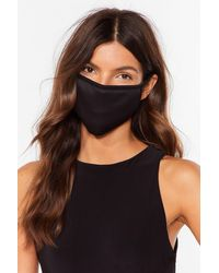 Nasty Gal Not Just A Pretty Fashion Face Mask - Black