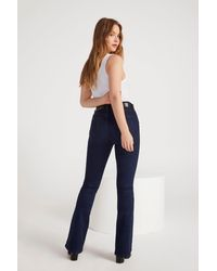"""Nasty Gal """"donna High-waisted Flare Jeans"""" - Blue"""