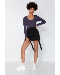 "Nasty Gal ""way To Cargo Mini Skirt"" - Black"