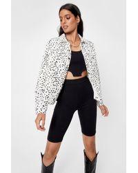 Nasty Gal Dalmatian Corduroy Jacket - White