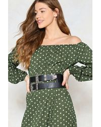 Nasty Gal - Double Vision Faux Leather Belt - Lyst