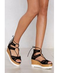 Nasty Gal - Stomping Ground Wedge Sandal - Lyst