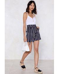Nasty Gal - I Short As Much Striped Shorts - Lyst