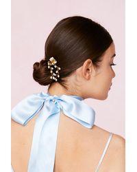 Nasty Gal Épingle À Cheveux De Mariage À Perles - Métallisé