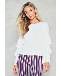 Nasty Gal - Tier For You Ribbed Top - Lyst