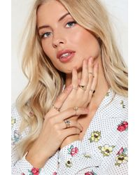 Nasty Gal - In Good Company 7-pc Ring Set - Lyst