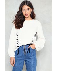 Nasty Gal - Ties The Limit Chunky Sweater - Lyst