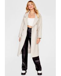 Nasty Gal Manteau Oversize Effet Laine Game Over-Size Les Jalouses - Multicolore
