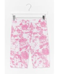 Nasty Gal And What Do You See Tie Dye Shorts - Pink