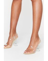 Nasty Gal Have No Clear Strappy Stiletto Heels - Multicolour