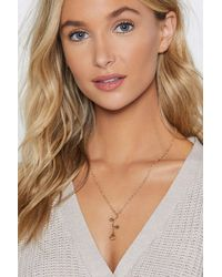 """Nasty Gal """"thin Chain With Rose Pendant Necklace"""" - Metallic"""
