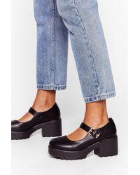 Nasty Gal Chaussures Mary Jane À Semelles Épaisses - Noir