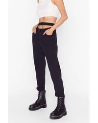 Nasty Gal - Waist Not Strappy Mom Jeans - Lyst