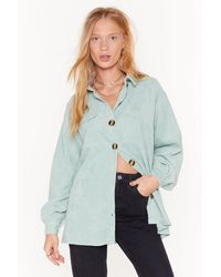 "Nasty Gal ""don't Texture Back Oversized Corduroy Shirt"" - Multicolor"