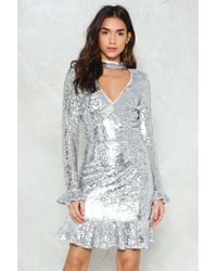 Nasty Gal - Come See About Me Sequin Dress - Lyst