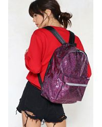 Nasty Gal - Rianbow Glitter Backpack Rianbow Glitter Backpack - Lyst