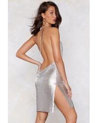 Nasty Gal - You've Got Chainmail Cowl Dress - Lyst