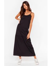 Nasty Gal Take Your Time Relaxed Maxi Dress - Black