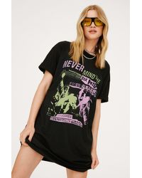 Nasty Gal Sex Pistols T-shirt Dress - Black