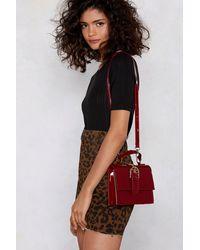 Nasty Gal Want Flap Top Buckle Crossbody Bag - Multicolour