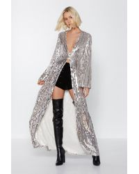 Nasty Gal - Studio Longline At The Bar Sequin Top - Lyst