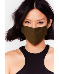 Nasty Gal All Mouth Fashion Face Mask - Black
