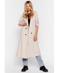 "Nasty Gal ""cover Girl Corduroy Trench Coat"" - Multicolour"