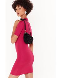 Nasty Gal Got The Fit Factor Ribbed Mini Dress - Pink