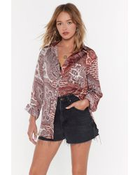 """Nasty Gal """"paisley Dirty Oversized Shirt"""" - Multicolor"""