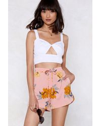 Nasty Gal - The Flower Is Yours Relaxed Shorts - Lyst