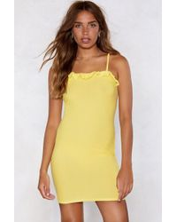 Nasty Gal - Guess What We Shirred Mini Dress - Lyst