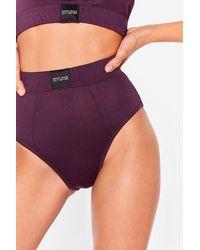 Nasty Gal Keep Your Word High-leg Knickers - Purple