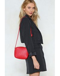 Nasty Gal - Want Are We Square Vegan Leather Bag - Lyst