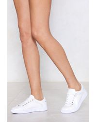 Nasty Gal - Space Out Laser Cut Trainer - Lyst