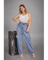 "Nasty Gal ""look Good In Blue Distressed Plus Jeans"""