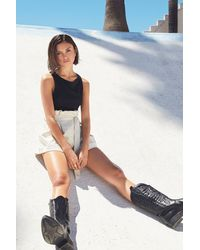 """Nasty Gal """"what Are You Waiting For Patent Paperbag Shorts"""" - White"""