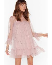 "Nasty Gal ""star And Wide Mesh Mini Dress"" - Pink"