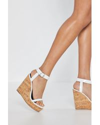 "Nasty Gal - ""lift Off Cork Wedges"" - Lyst"